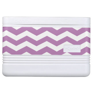 Orchid & White Chevron Pattern Igloo Cooler