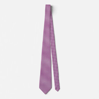 Orchid & White Knit Houndstooth Geometric Pattern Neck Tie