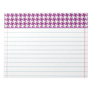 Orchid & White Knit Houndstooth Geometric Pattern Notepad