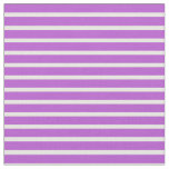 [ Thumbnail: Orchid & White Lines Pattern Fabric ]