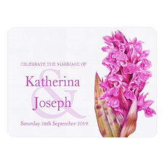 Orchid wildflower watercolor purple wedding invite