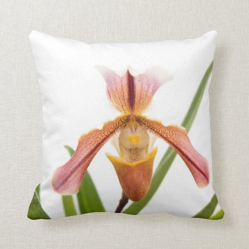 Orchid - Will the slipper fit Throw Pillow
