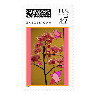 Orchid with Jewish Stars Postage