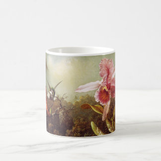 Orchid with Two Hummingbirds Mug