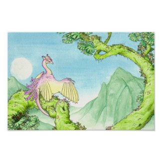 Orchid wyvern poster print print
