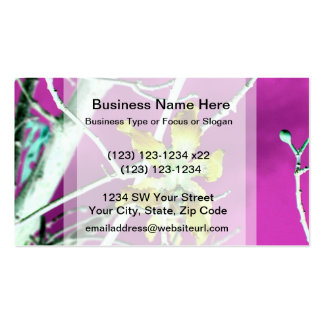 orchid yellow black pink flower business card