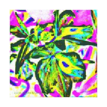 Art Themed ORCHIDAE ABSTRACT 2 CANVAS PRINT