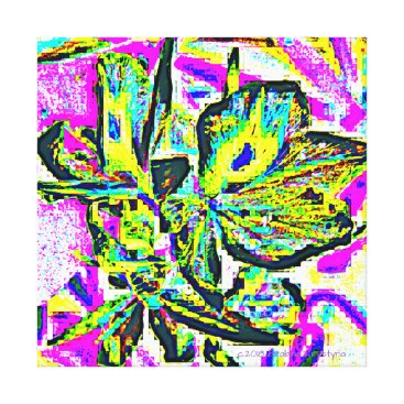 Art Themed ORCHIDAE ABSTRACT CANVAS PRINT
