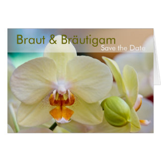 Orchidee • Save the Date Karte Card