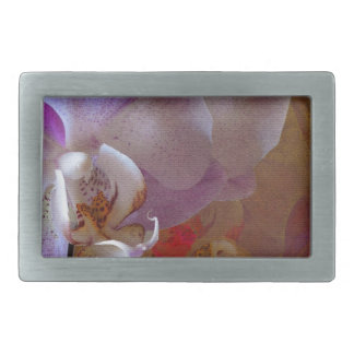 Orchidelia Gorgeous Orchids Abstract Belt Buckle