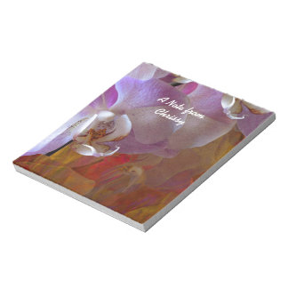 Orchidelia Gorgeous Orchids Abstract Notepad