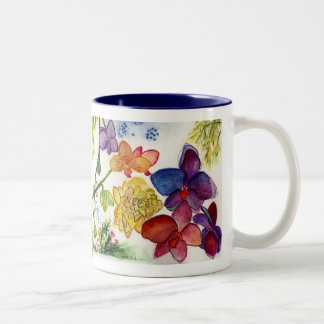 Orchids 39 and 40 diptych Two-Tone coffee mug