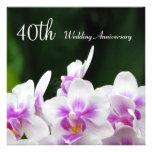 Orchids 40th Wedding Anniversary Invitation