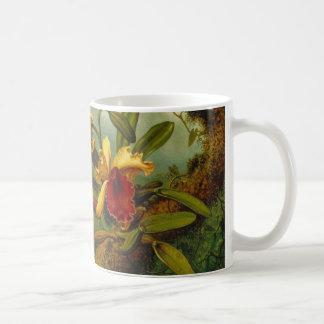 Orchids and Hummingbird 1875 Coffee Mug