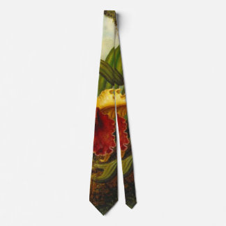 Orchids and Hummingbird 1875 Tie