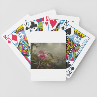 Orchids and Hummingbirds by Martin Johnson Heade Bicycle Playing Cards