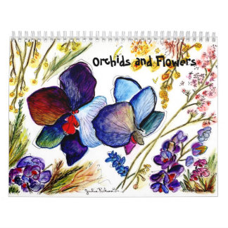 Orchids and Other Flowers 2013 Wall Calendars