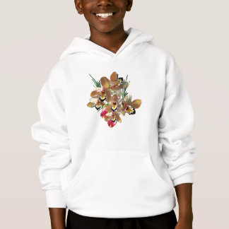 Orchids and Rosebuds Kids Hoodie
