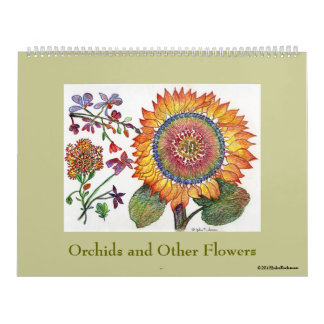 Orchids ans Other Flowers Calendar