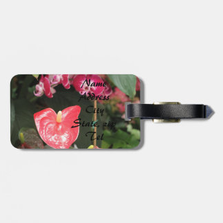 Orchids blooms bag tag