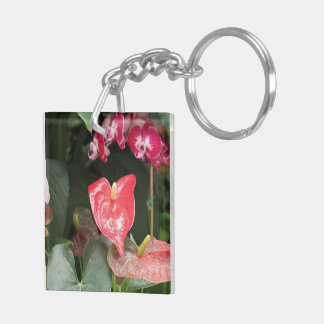 Orchids blooms keychain