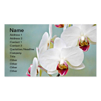 Orchids Double-Sided Standard Business Cards (Pack Of 100)