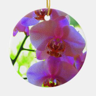 Orchids Ceramic Ornament