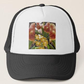 Orchids collage trucker hat