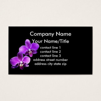 orchids custom business card template