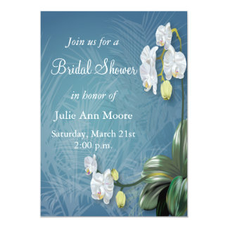 Orchids & Ferns Bridal Shower 5x7 Paper Invitation Card