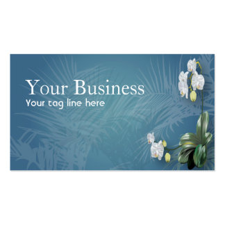 Orchids & Ferns Double-Sided Standard Business Cards (Pack Of 100)