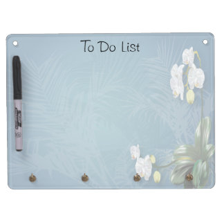 Orchids & Ferns Dry-Erase Board