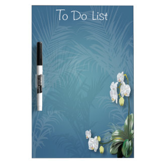 Orchids & Ferns Dry-Erase Boards