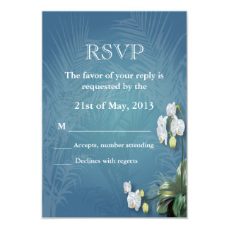Orchids & Ferns RSVP 3.5x5 Paper Invitation Card