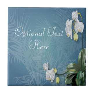 Orchids & Ferns Small Square Tile