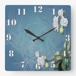 Orchids & Ferns Square Wallclock