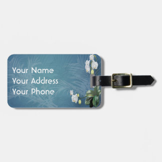 Orchids & Ferns Travel Bag Tag