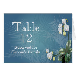 Orchids & Ferns Wedding Table Number Stationery Note Card