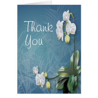 Orchids & Ferns Wedding Thank You Greeting Card