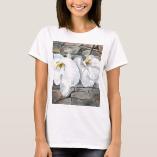 orchids flower painting T-Shirt