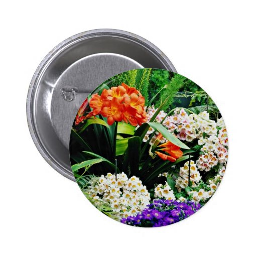 Orchids  flowers 2 inch round button