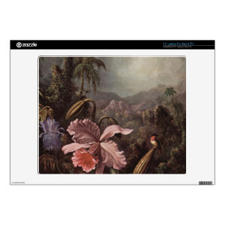 Orchids, flowers and hummingbirds by Martin Heade Skins For Laptops