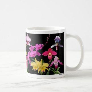 Orchids galore classic white coffee mug
