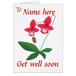 Orchids Get Well Card Add name front