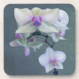 Orchids In Shades Of Purple Drink Coaster