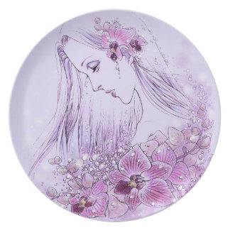Orchids in the Rain Plate