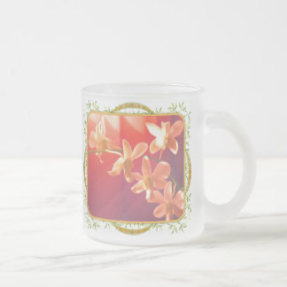 Orchids in the Sun 10 Oz Frosted Glass Coffee Mug