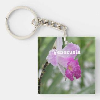 Orchids Single-Sided Square Acrylic Keychain