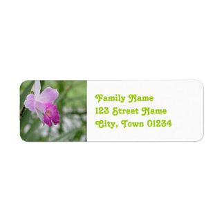 Orchids Return Address Label