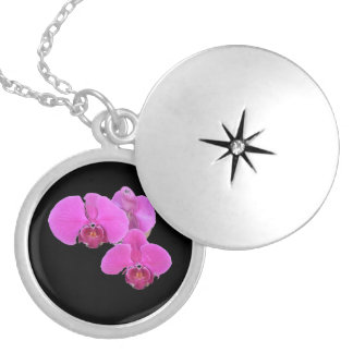 Orchids Locket Necklace